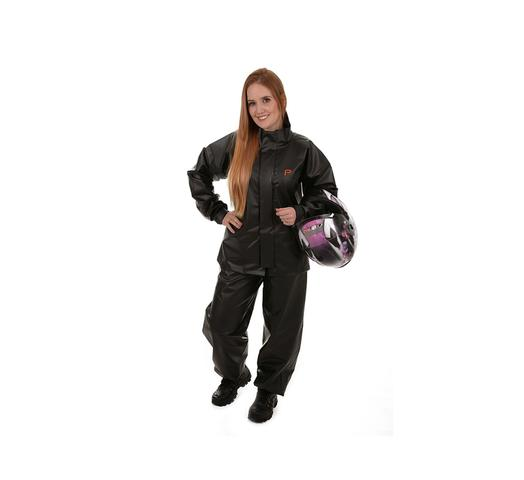 Imagem de Capa roupa de chuva motoqueiro motoqueira unissex pvc way pioneira tam p 0079