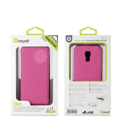Imagem de Capa Samsung Galaxy S4 Mini Slim Rosa - Muvit