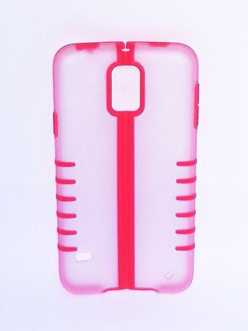 Imagem de Capa Samsung Galaxy S5 Dobrável Rosa com Transparente - Idea