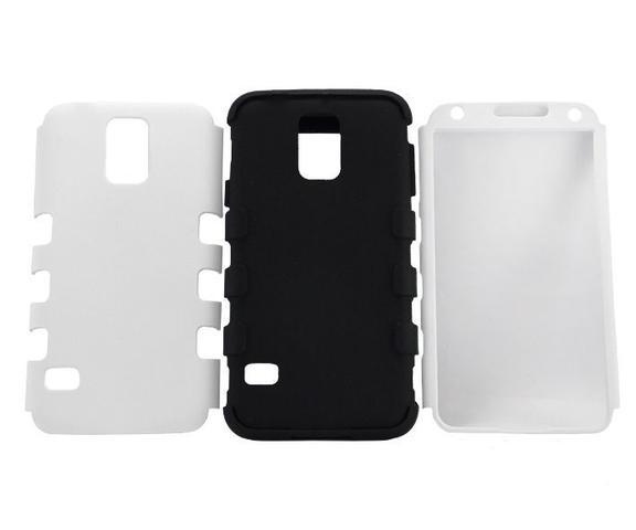 Imagem de Capa Samsung Galaxy S5 Pc + Tpu Tripla Proteçã Branco - Idea