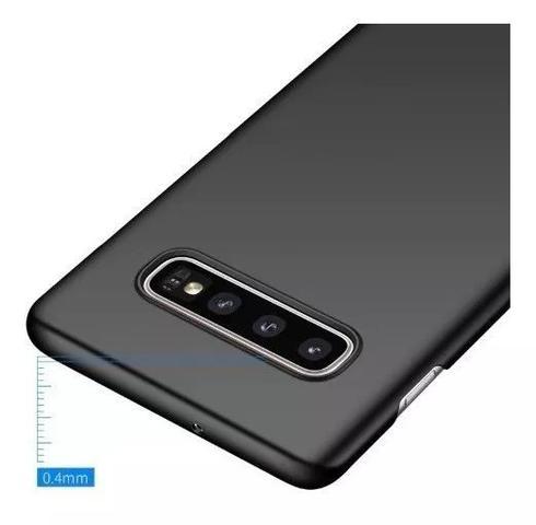 Imagem de Capa Slim Fosca (Preta) Premium Samsung Galaxy S10+ Plus Tela 6.5 + 01 Película De Gel 5D Cobre 100% Tela