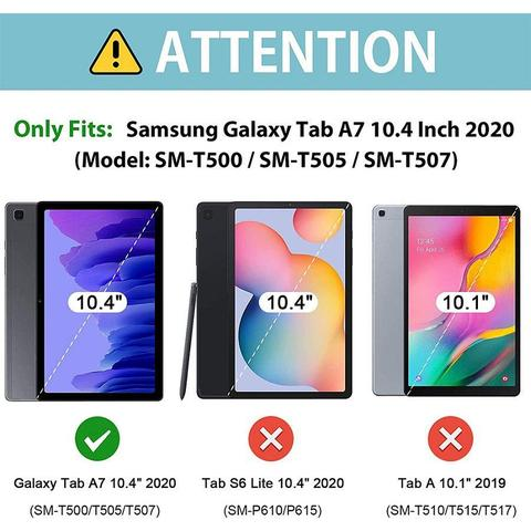 Imagem de Capa Tablet Samsung Galaxy Tab A7 10.4 T500 T505 Traseira de Silicone Fumê