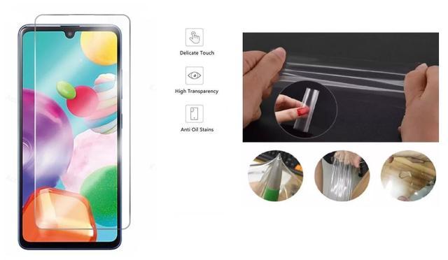 Imagem de Capa Tpu Preta Escovada Samsung Galaxy A21S + Película de gel