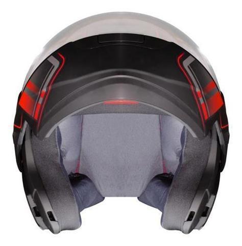 Imagem de Capacete Articulado de Moto Ebf E8 Drift Vermelho Fosco (Robocop)