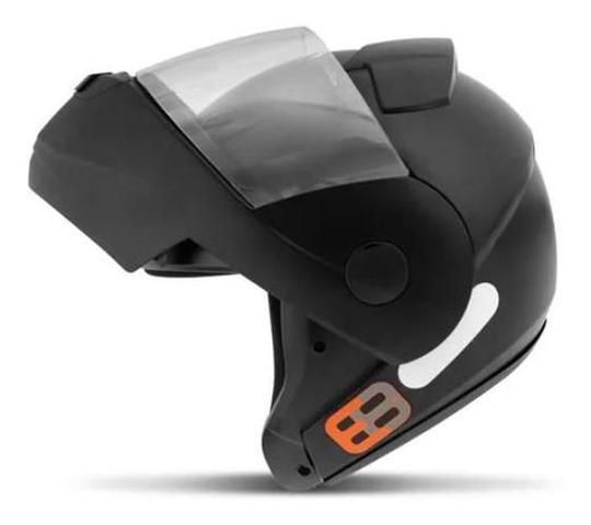 Imagem de Capacete Articulado de Moto Ebf E8 Solid Preto Fosco (Robocop) - Tam: 58
