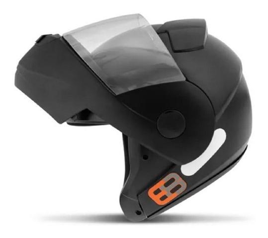 Imagem de Capacete Articulado Ebf New E8 Solid Robocop Escamoteável