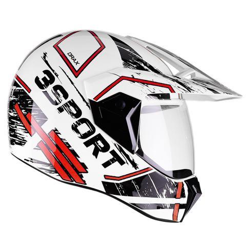 Imagem de Capacete Bieffe 3 Sport Drax Estilo Cross Masculino Feminino Esportivo Moto