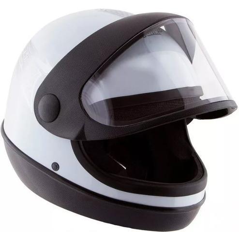 Imagem de Capacete Branco Moto Automático Tipo Sanmarino Masculino 56/58/60 Pro Tork