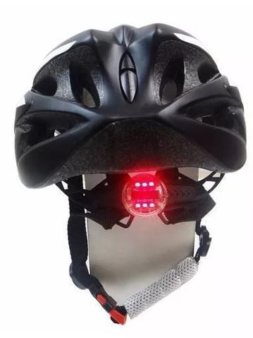 Imagem de Capacete Ciclismo Absolute Nero Wt012 Led Pisca PretoBranco