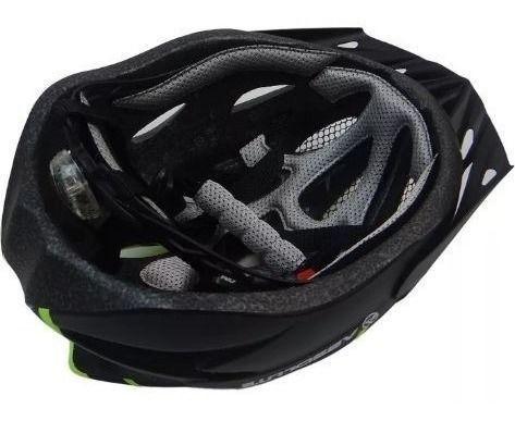 Imagem de Capacete Ciclismo Led Absolute Bike Nero Preto/Branco M