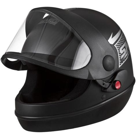 Imagem de Capacete de moto preto fosco tamanho 58 pro tork  + 2 viseiras extra