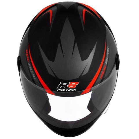 Imagem de Capacete de moto r8 cinza/vermelho