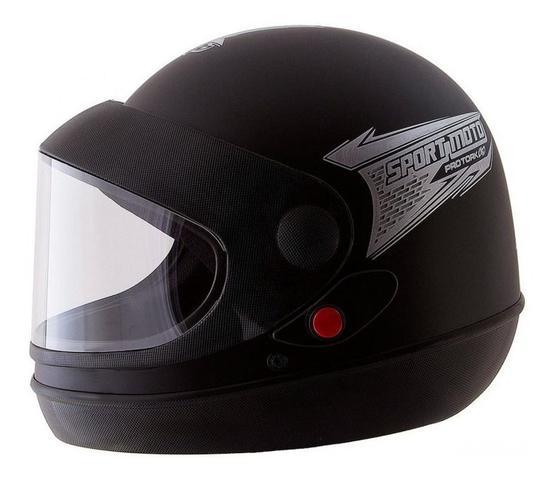 Imagem de Capacete de moto sm 60 preto fosco pro tork  + viseira extra