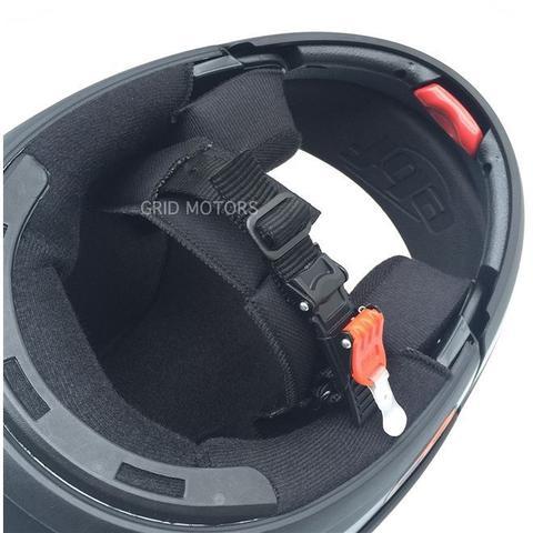 Imagem de Capacete EBF E8 Articulado (Robocop) Preto Fosco