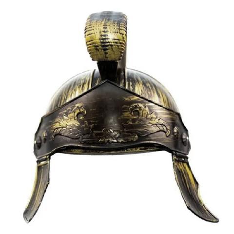 Imagem de Capacete Elmo Medieval Gladiador Romano Dourado