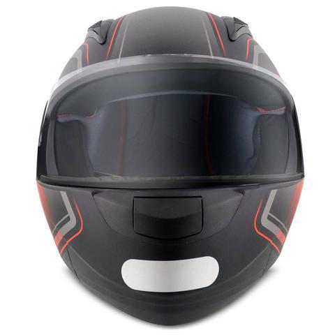 Imagem de Capacete Escamoteável Robocop EBF Novo E8 Drift Preto Fosco e Vermelho Moto