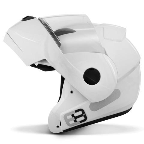 Imagem de Capacete Escamoteável Robocop EBF Novo E8 Solid Branco Moto