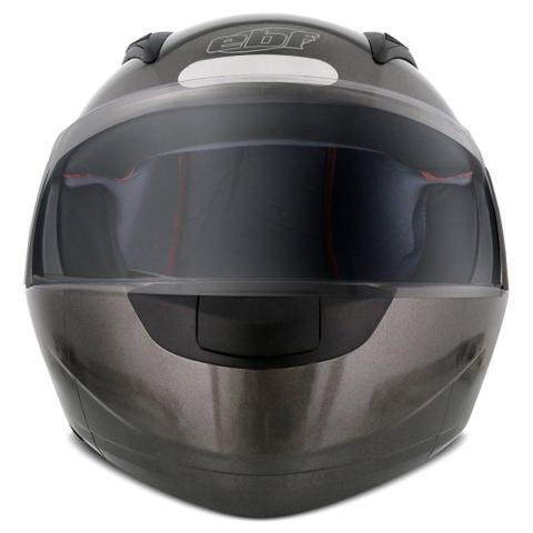 Imagem de Capacete Escamoteável Robocop EBF Novo E8 Solid Chumbo Moto - Ebf Capacetes