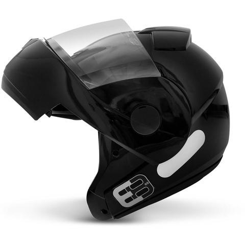 Imagem de Capacete Escamoteável Robocop EBF Novo E8 Solid Preto Moto