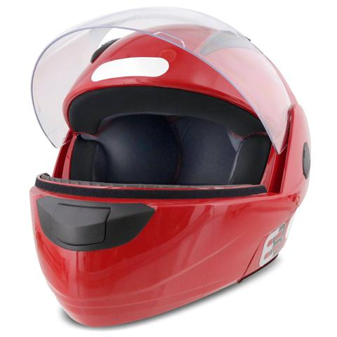 Imagem de Capacete Escamoteável Robocop EBF Novo E8 Solid Vermelho Moto