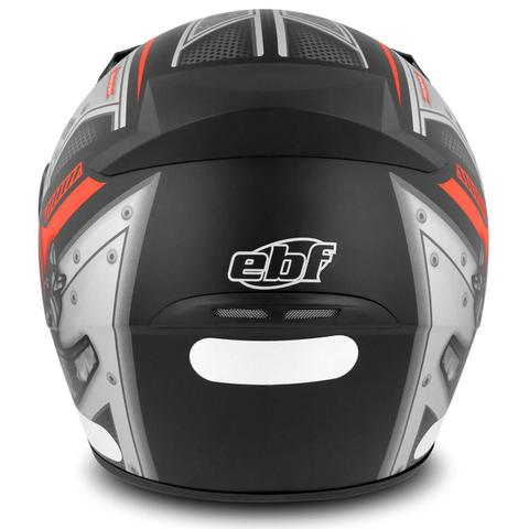 Imagem de Capacete Fechado EBF New Spark Air Preto Fosco e Vermelho Moto