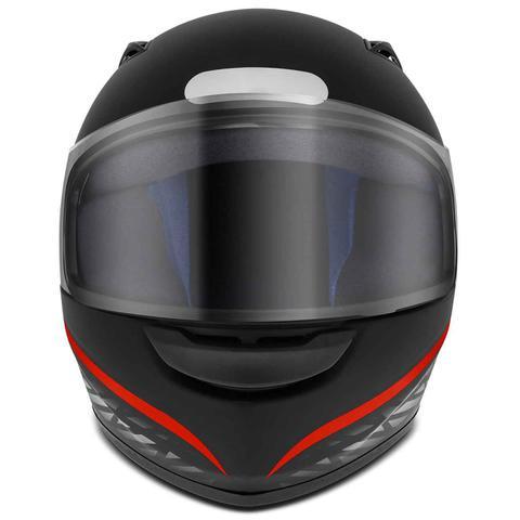 Imagem de Capacete Fechado EBF New Spark Black Edition 2 Preto Fosco e Rosa Azul Prata Vermelho Moto