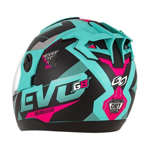 Imagem de Capacete Fechado G8 Evo Pro Tork Verde E Pink Brilhante