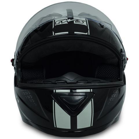 Imagem de Capacete Fechado Moto Gt1 Branco Preto Com Narigueira Tam 60