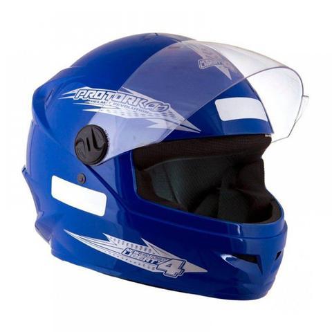Imagem de Capacete Fechado Moto Masculino Azul New Liberty Four Pro Tork