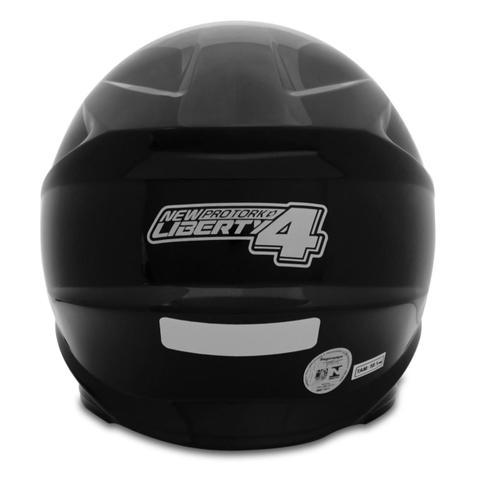 Imagem de Capacete Fechado Moto Masculino Preto 56/58/60 New Liberty Four Pro Tork