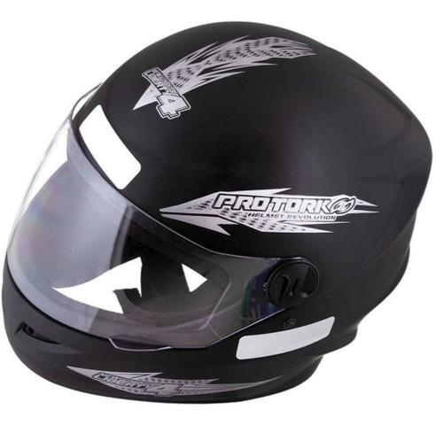 Imagem de Capacete Fechado Moto Masculino Preto Fosco New Liberty Four Pro Tork