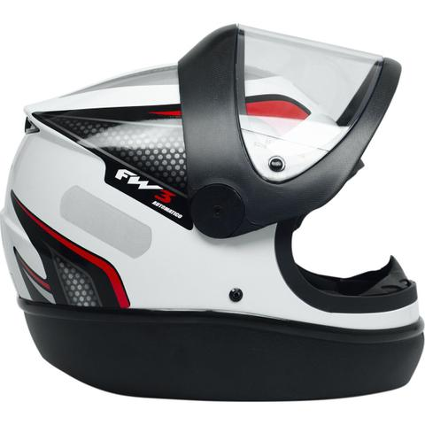 Imagem de Capacete Fechado Para Moto Fw3 Automático Branco Tamanho 60