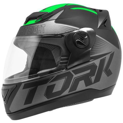 Imagem de Capacete Fechado Pro Tork Evolution G7 Preto E Verde Fosco