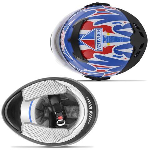 Imagem de Capacete Fechado Pro Tork Liberty Evolution 788 3G Fortaleza EC Oficial Azul Branco e Vermelho