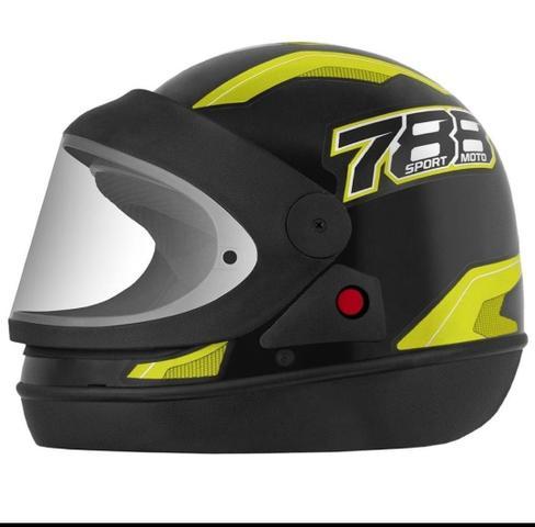 Imagem de Capacete Fechado Pro Tork New Sport Moto 788 Automático modelo san marino Preto/Amarelo