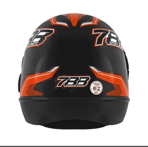 Imagem de Capacete Fechado Pro Tork New Sport Moto 788 Automático modelo san marino Preto/Laranja