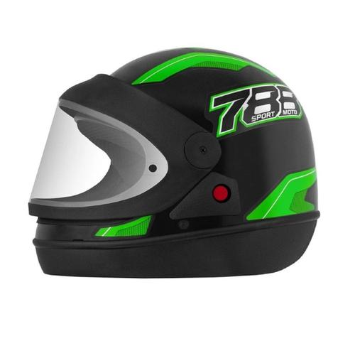 Imagem de Capacete Fechado Pro Tork New Sport Moto 788 Automático modelo san marino Preto/Verde