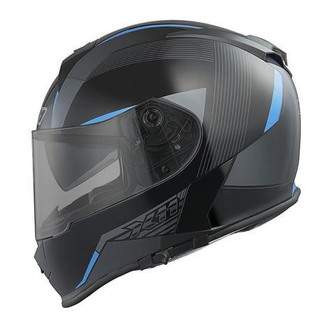Imagem de Capacete Fechado Revo x11 Preto/Azul Moto Motociclista ( T-58 )