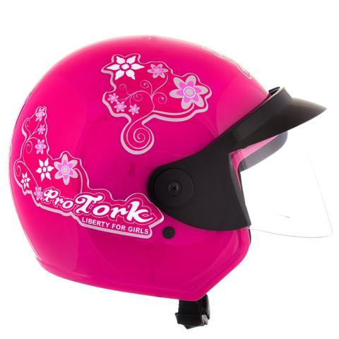Imagem de Capacete Feminino de Moto Liberty 3 Rosa Girls