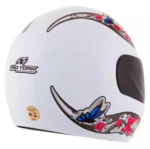 Imagem de Capacete feminino de moto liberty 4 branco girls