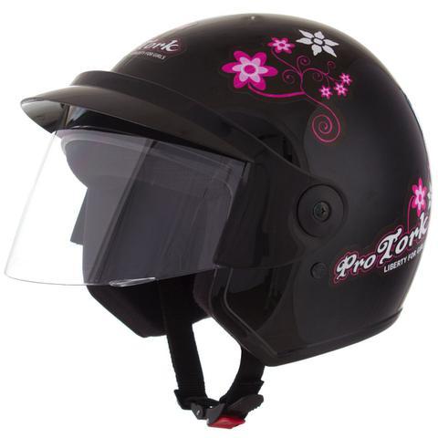 Imagem de Capacete Feminino De Moto Libety 3 Preto Girls