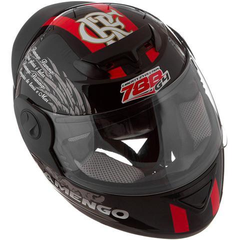Imagem de Capacete Flamengo Oficial Moto Pro Tork Evolution G4 Preto Brilhante