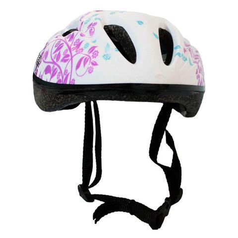 Imagem de Capacete Infantil Para Bike Contra Tombos Bicicleta Branco