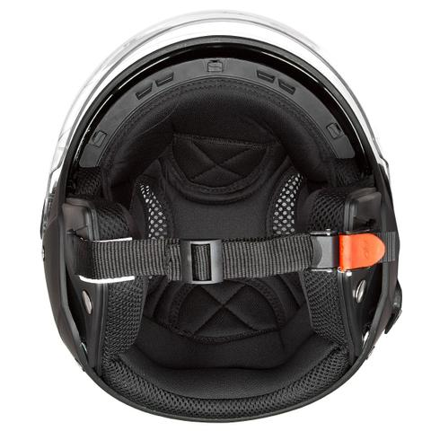 Imagem de Capacete Moto Aberto New Atomic Solid Preto Fosco Com Óculos Solar Pro Tork
