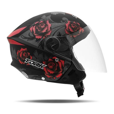 Imagem de Capacete Moto Aberto Pro Tork New Liberty 3 Flowers Fosco