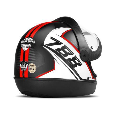 Imagem de Capacete Moto Automático Pro Tork Super Sport Moto 2019 Brilhante
