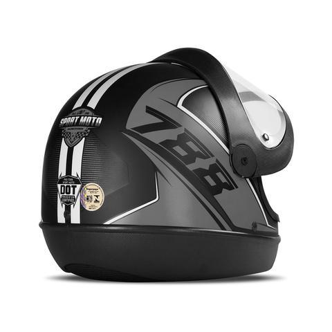 Imagem de Capacete Moto Automático Pro Tork Super Sport Moto 2019 Fosco