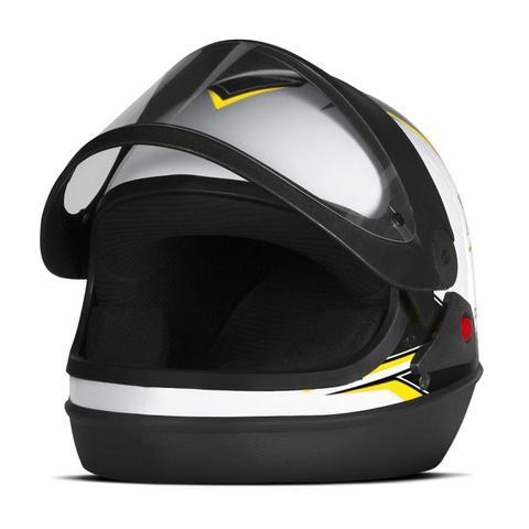 Imagem de Capacete Moto Automático Pro Tork Super Sport Moto Branco