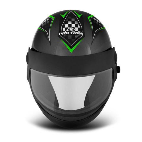 Imagem de Capacete Moto Automático Pro Tork Super Sport Moto Grafite