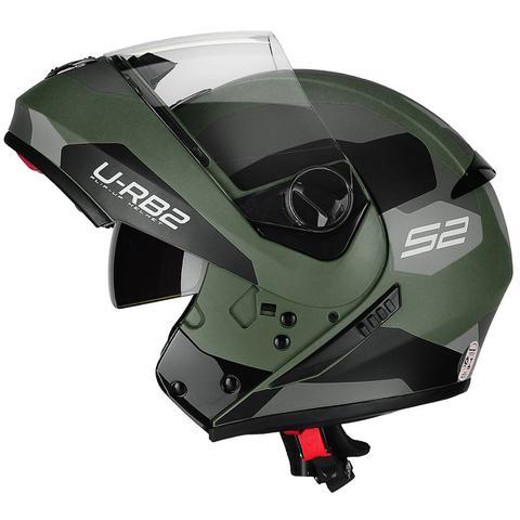 Imagem de Capacete Moto Escamoteável Peels Urban Sync 2 Verde Militar Fosco